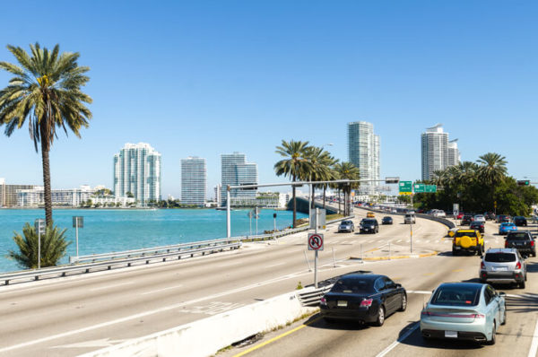 view of florida highway in miami