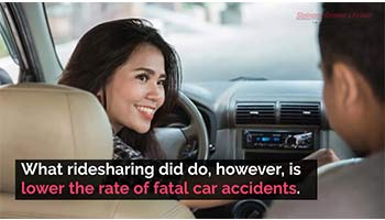 Ridesharing lowers the rate of fatal car accidents